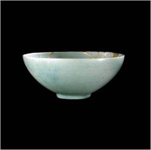 Celadon bowl, Korea, Koryo dynasty, 12th century AD, repaired in Japan